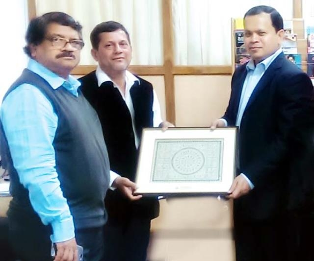 DIU Chairman visits KIIT University in India