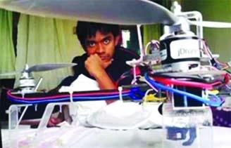 KUET student Dip makes autonomous Drone
