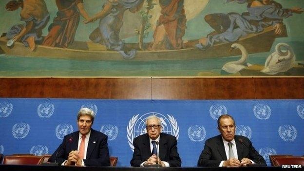 Syria peace conference Geneva II begins in Switzerland