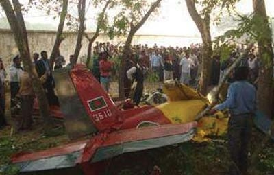 Emergency landing at Jessore