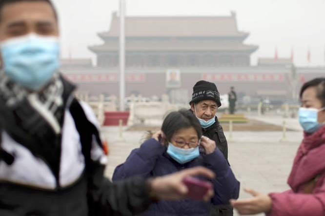 Pollution hides Beijing skies