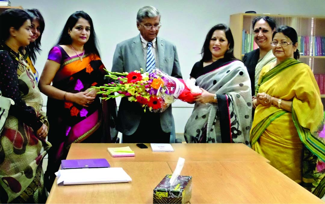 Leaders of Bangladesh Women Chamber of Commerce and Industry (BWCCI) held a meeting with state minister for Finance M. A. Mannan to share about women entrepreneurship development related issues on Tuesday. The BWCCI team comprised of 7 members including Ms. Selima Ahmad, Founder of BWCCI and Ms. Sangita Ahmed, President of BWCCI along with other board directors.