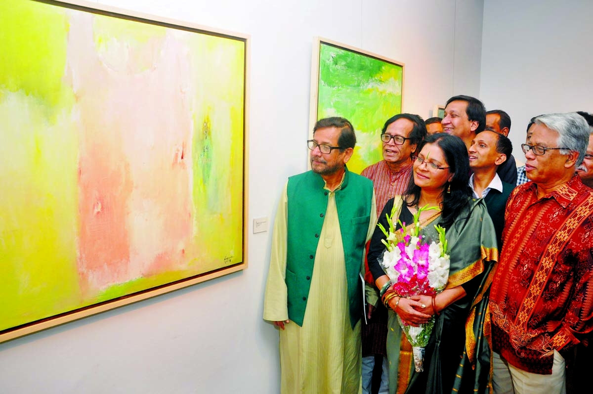 Najma Akhter's solo art exhibition
