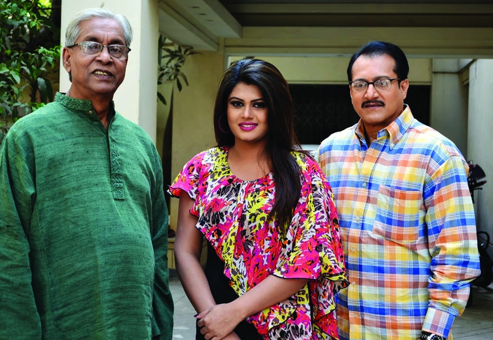 Chashi Nazrul, Moumita, Subrata together in movie for first time