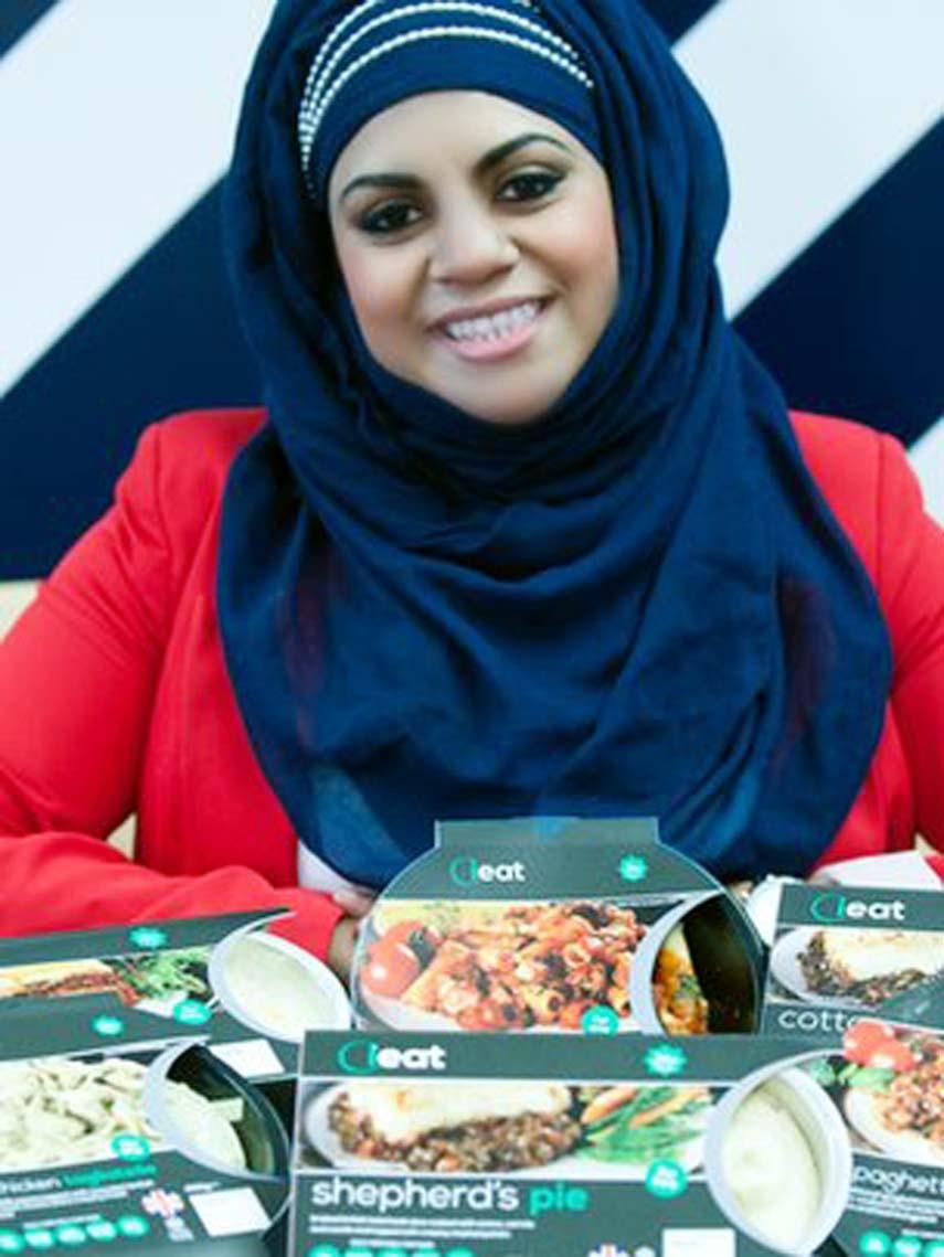 Muslim woman entrepreneur hungry for success
