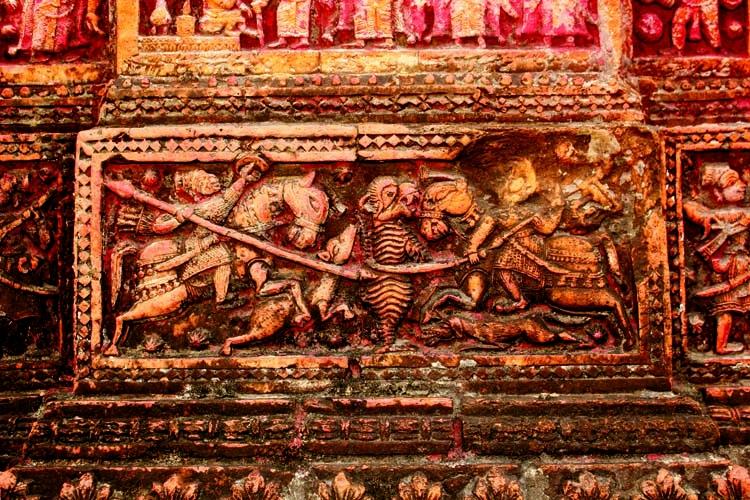 Terracotta art in Gobinda Temple, Puthia, Rajshahi