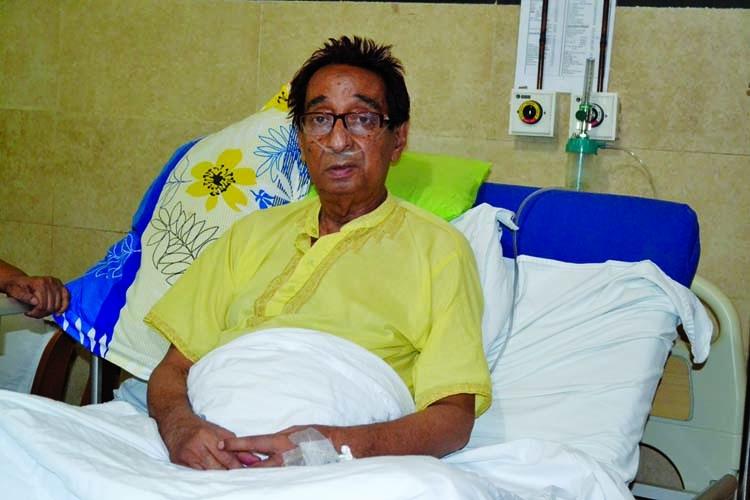 Khalid Hussain hospitalised