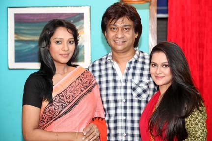 Moutushi-Partho-Mithila together in same play