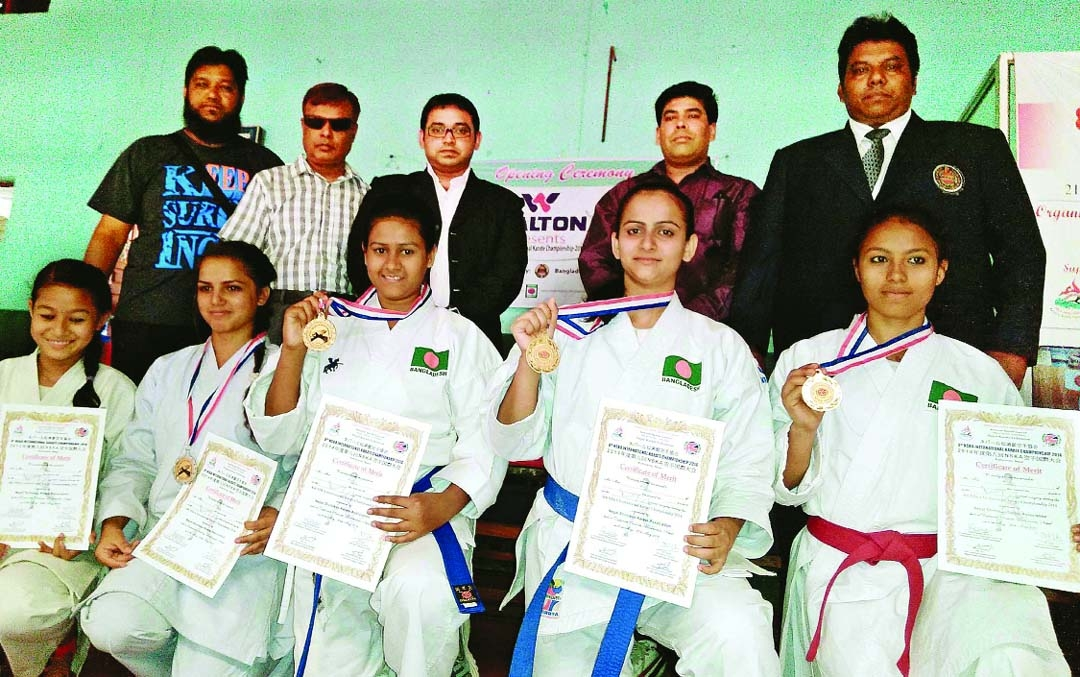 Bangladesh win two gold medals in Int'l Karate Championship