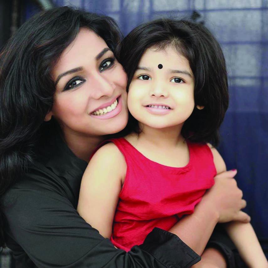 Runa Khan's daughter Rajeshwari in TVC