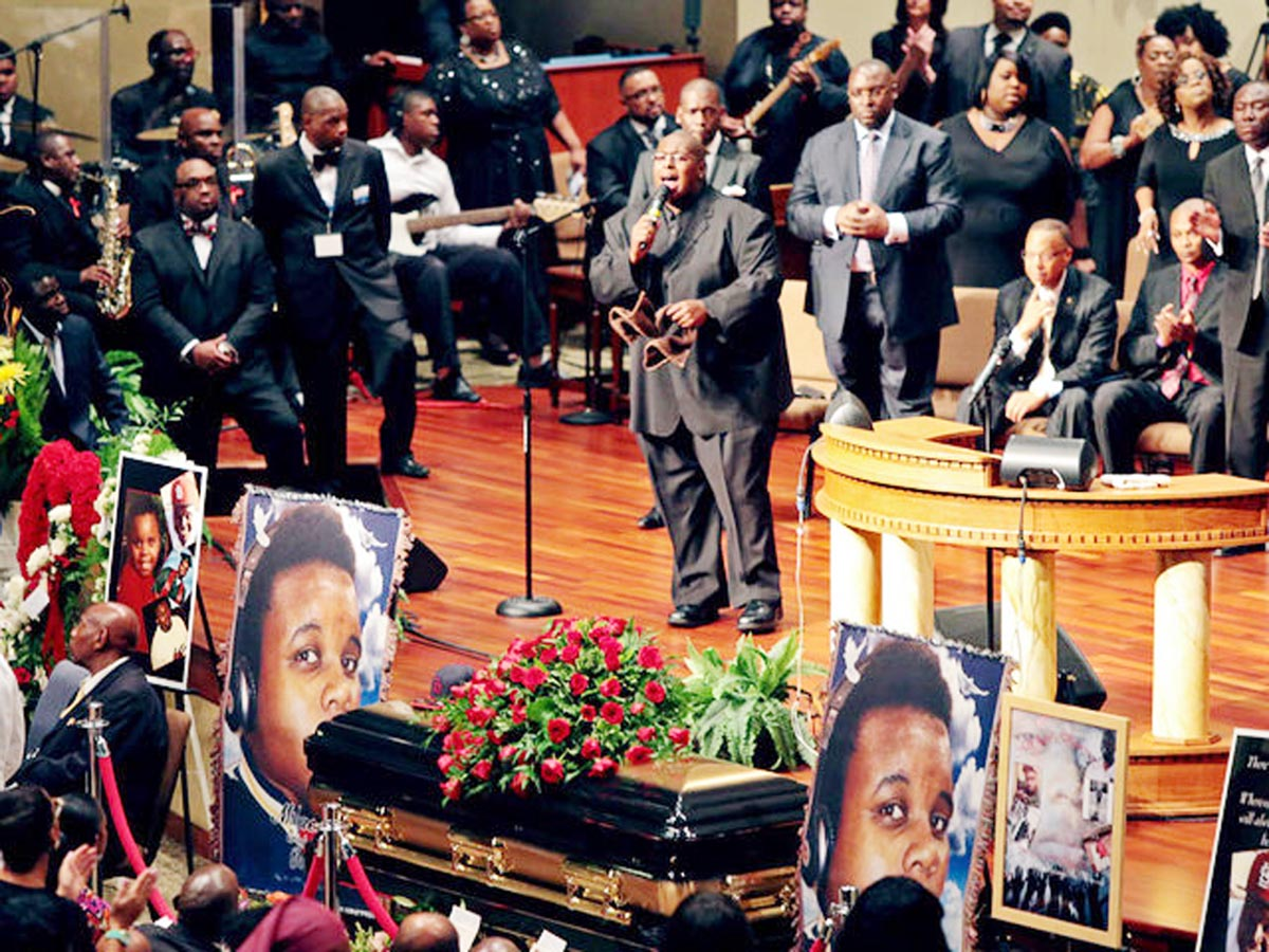 Funeral for black teenager killed by US cops