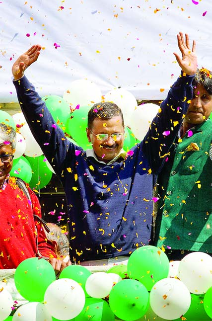 Delhi rejects Modi Anti-Corruption party wins 67 of 70 seats
