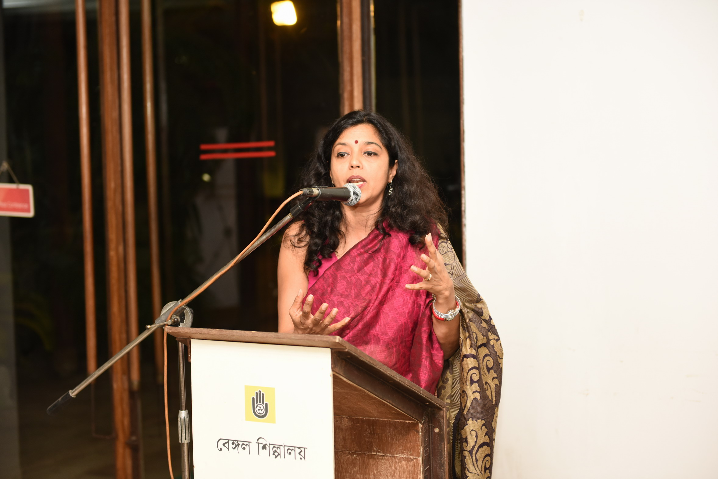 Monica Jahan Bose's art talk Storytelling With Sarees