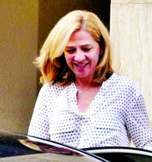 Spain`s Princess Cristina on trial in fraud case