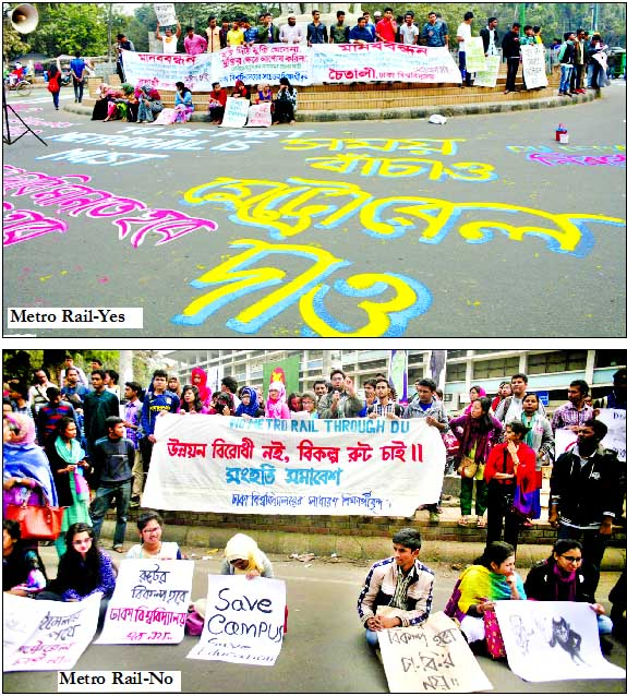 DU students divided on Metro Rail