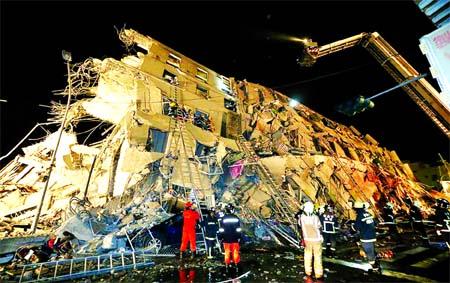 Taiwan quake kills 14