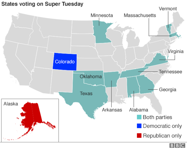 US election 2016 Super Tuesday to test candidates The New Nation