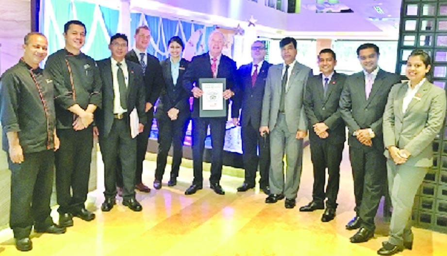 Amari Dhaka, a hotel of ONYX Hospitality Group receives Certificate Of Excellence recently from TripAdvisor, the world