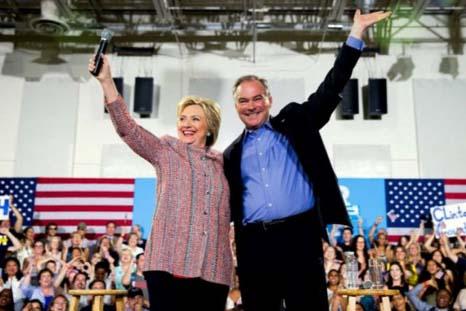 Hillary  picks Tim Kaine as her running mate
