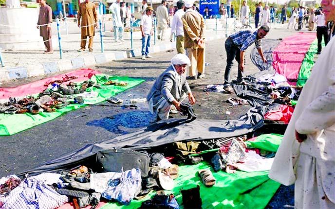Powerful blasts kill 80 in Kabul protest