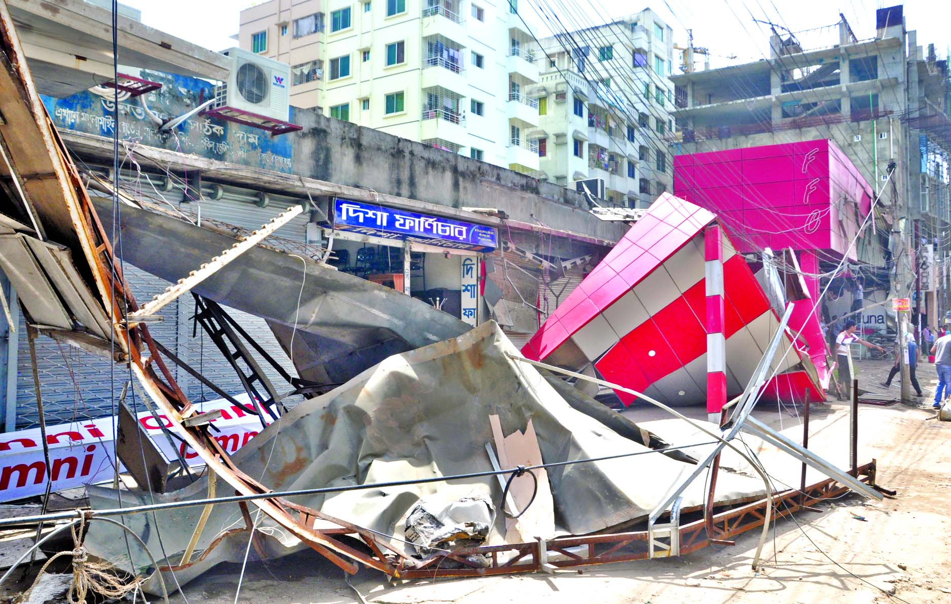 Rajuk authority evicted illegal structures in city