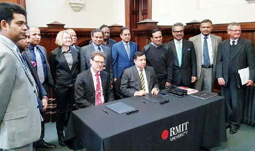 Educational collaboration deal between BUFT, Australian universities
