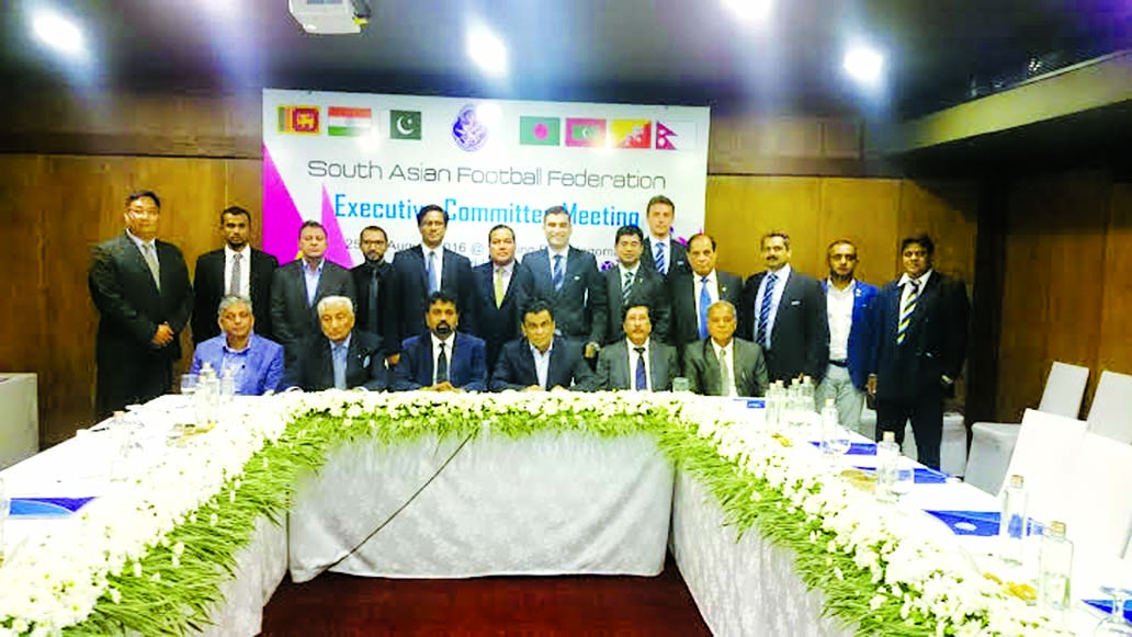 President of South Asian Football Federation and President of Bangladesh Football Federation Kazi Salahuddin presided over the meeting of the Executive Committee of South Asian Football Federation in Sri Lanka on Thursday.