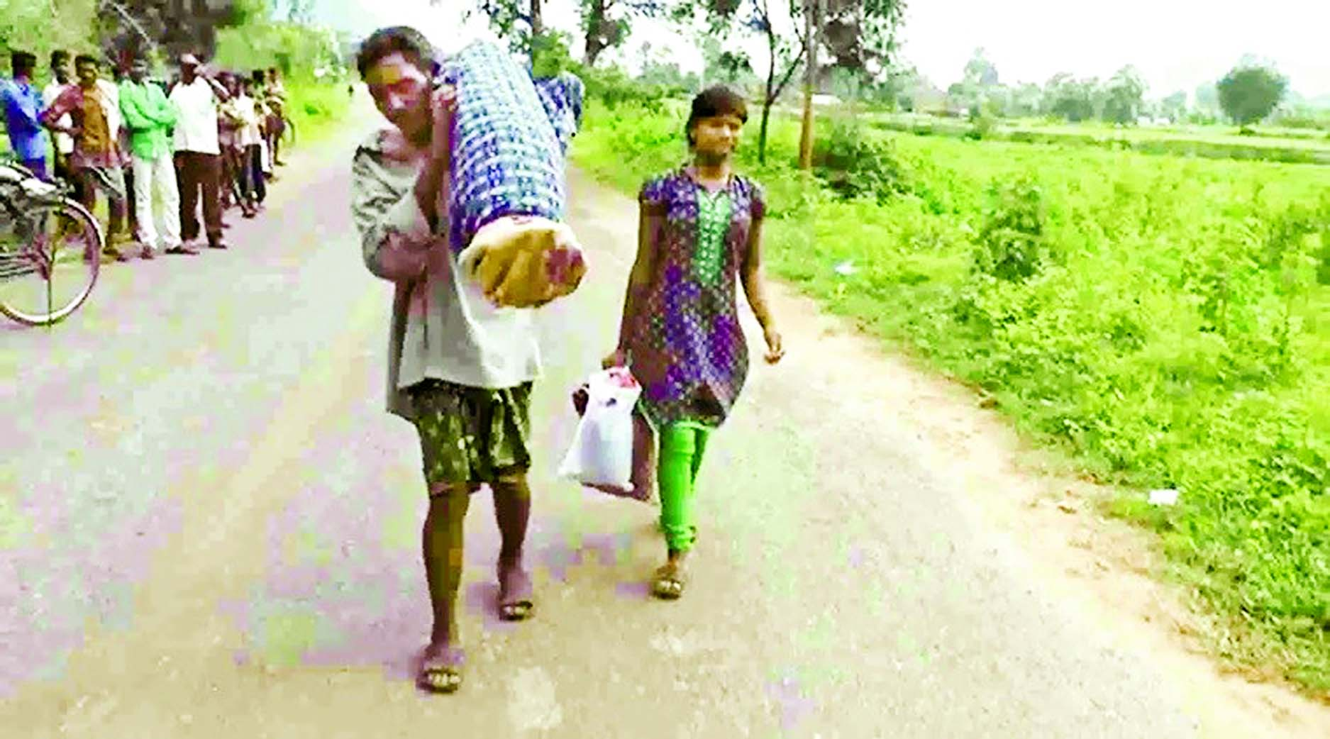Odisha man walks 10-km carrying wife