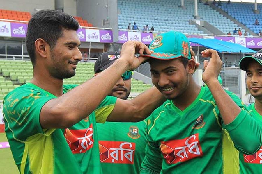 Debutante Mosaddek guides Bangladesh to score 208