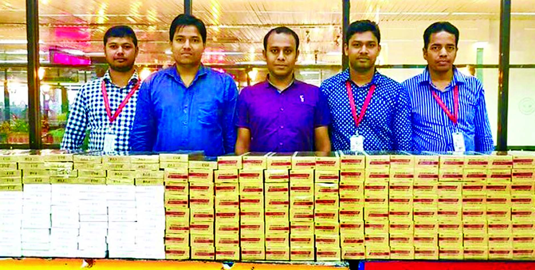 Customs and intelligence team recovered abandoned foreign cigarettes worth Tk 28 lakh from Hazrat Shahjalal International Airport on Wednesday.
