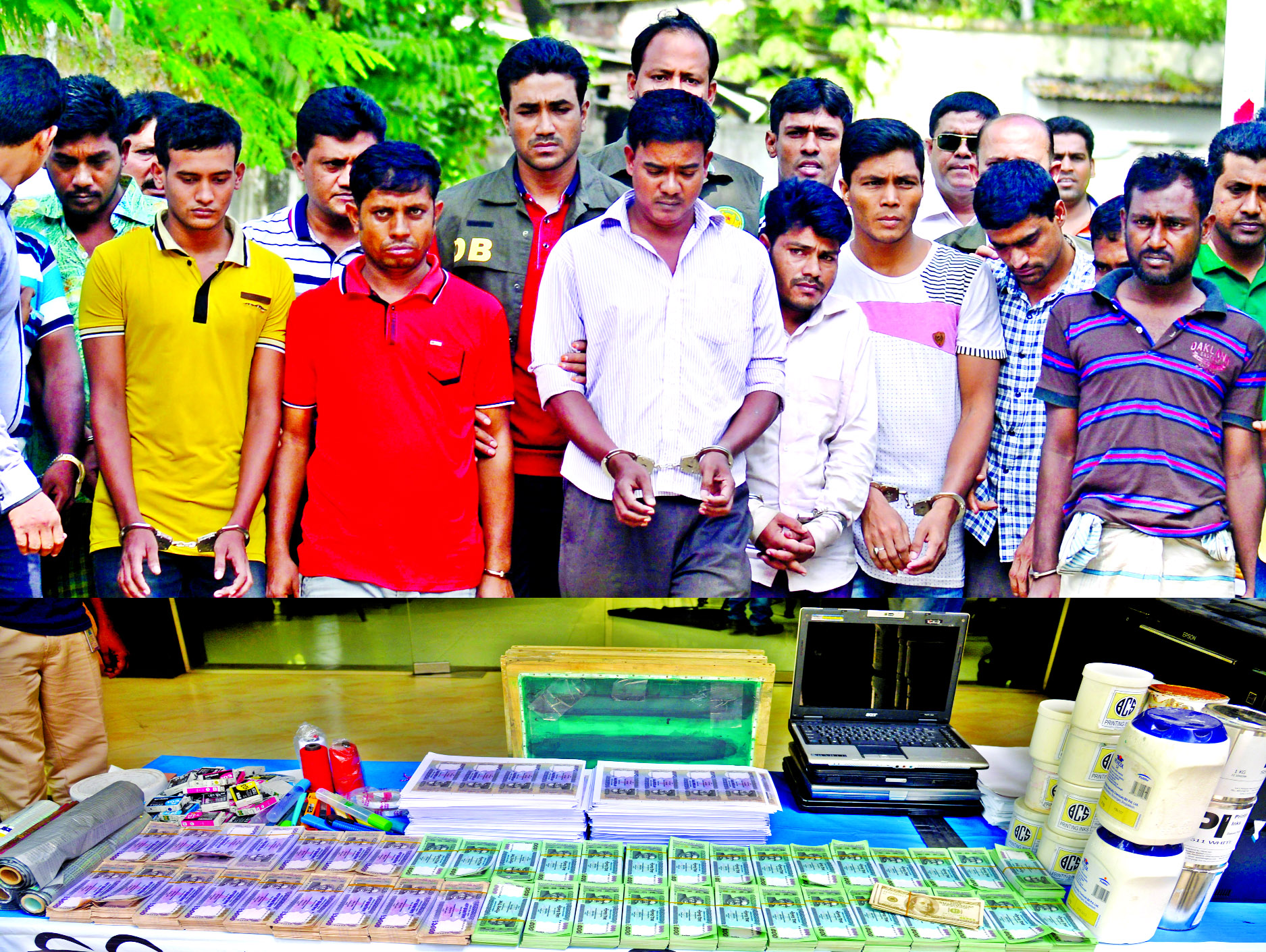 Ten held with Tk 66 lakh fake currency notes