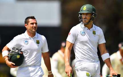 Elgar, du Plessis run riot for South Africa