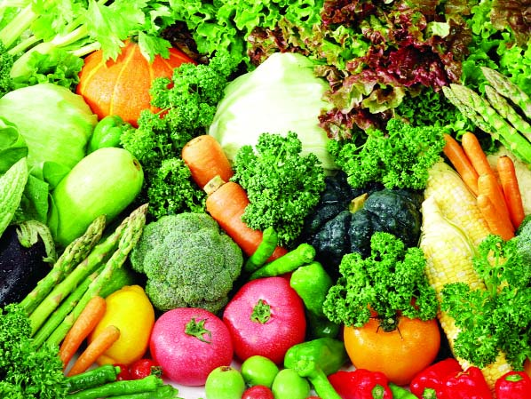 Price of vegetables slightly declines