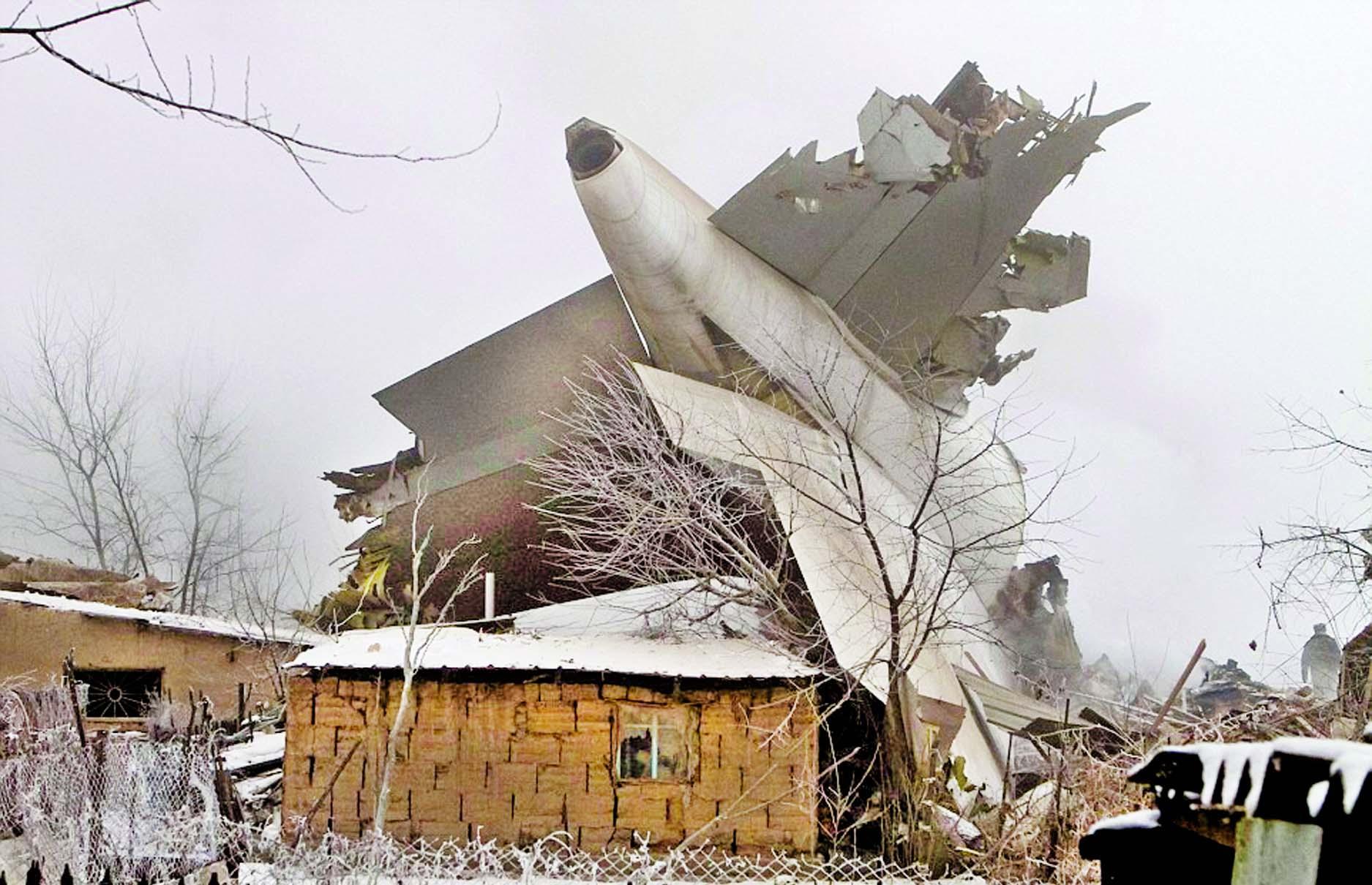 37 killed as Turkish plane crashes on Kyrgyzstan houses