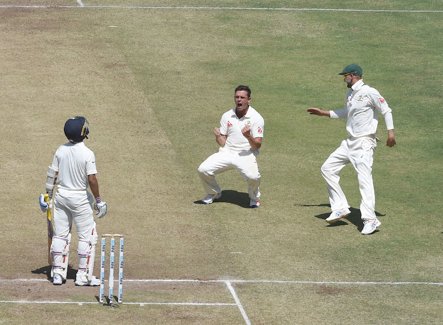 O`Keefe, Smith flatten India on day 2 in 1st Test