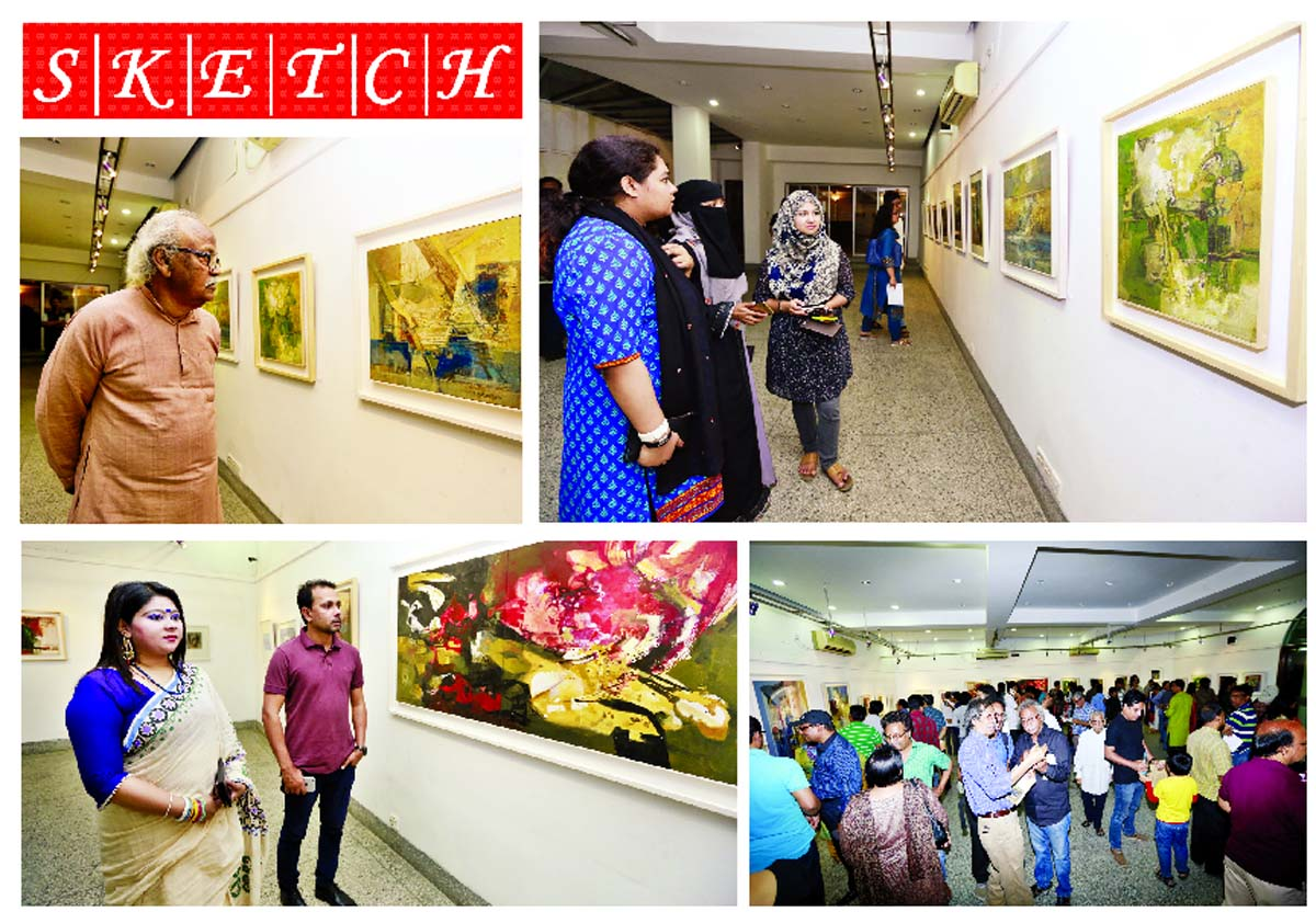 Solo painting exhibition at Alliance Francaise