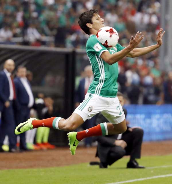 Mexico`s Jurgen Damm controls the ball during a 2018 Russia World Cup qualifying soccer match between Mexico and Costa Rica at Azteca stadium in Mexico City on Friday. Mexico won the match 2-0.