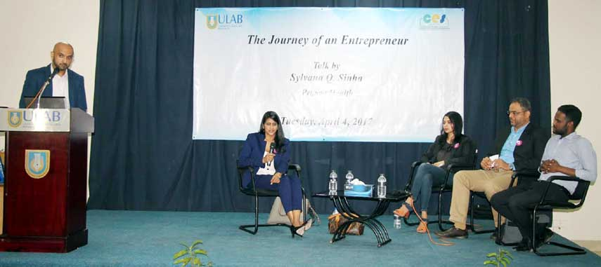 ULAB hosts talk on 'The Journey of an Entrepreneur'