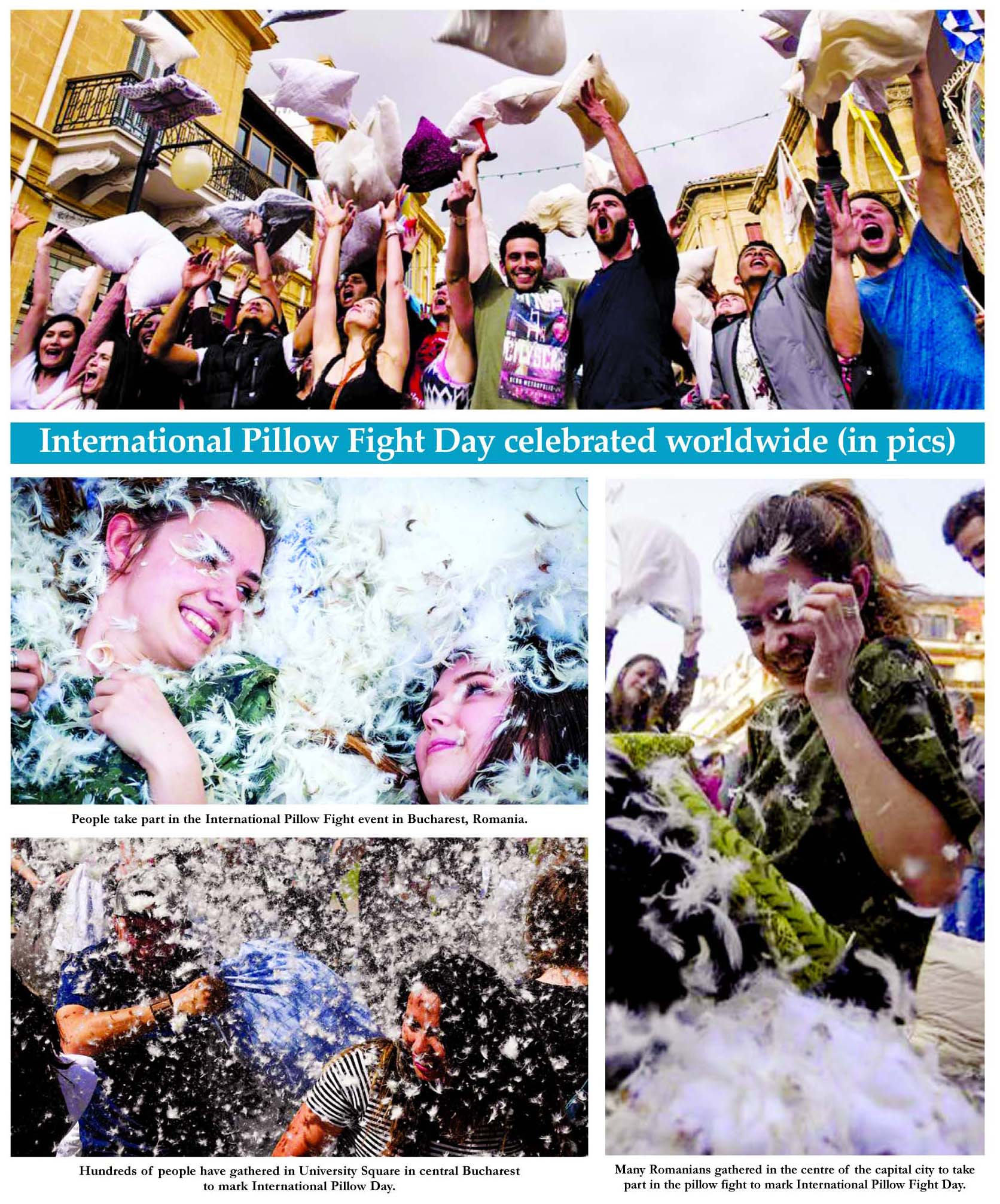 International Pillow Fight Day celebrated worldwide (in pics)