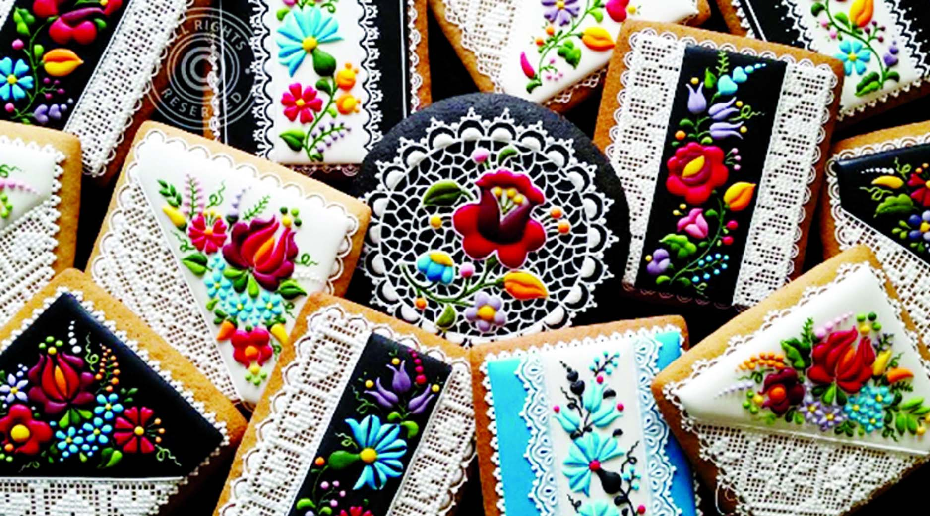 Food art: Embroidery is for clothes  not cookies, or is it?
