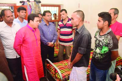 BOGRA: Md. Asaduzzaman, Superintendent of Police, Bogra  inspecting a drug-healing and rehabilitaton center at Dattabari area in the town on Friday morning which is managed by Bogra Community Policing.