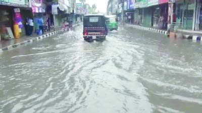 BARISAL: Low-lying areas of Barisal city went under water due to heavy rainfall  for a few days. This snap was taken  on Saturday.
