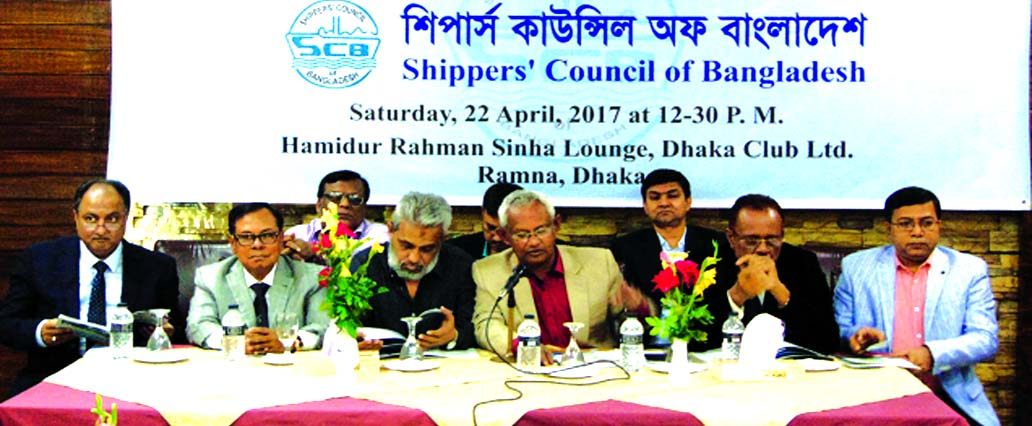 Md. Rezaul Karim, Chairman of Shippers' Council of Bangladesh presiding over its 35th AGM at Dhaka Club in the city on Saturday. The AGM reviewed, among other matters, country's trade, transport, shipping and port-related problems in the context of world trade situation. It reviewed the performances of the Council during the last one year which include measures taken for enhancing its services to the shippers i.e. exporters and importers. The meeting also discussed its inter-action with Asian Shippers' Alliance (ASA) and Global Shippers' Alliance (GSA). About 100 members and guests attended the meeting.