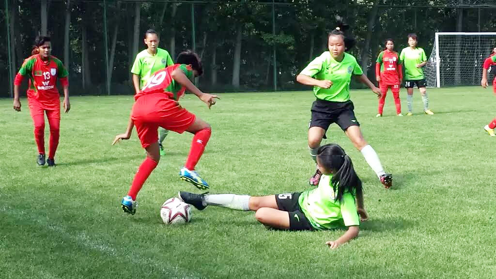BD U16 girls bounce back with 4-1 win against Shaanxi U15