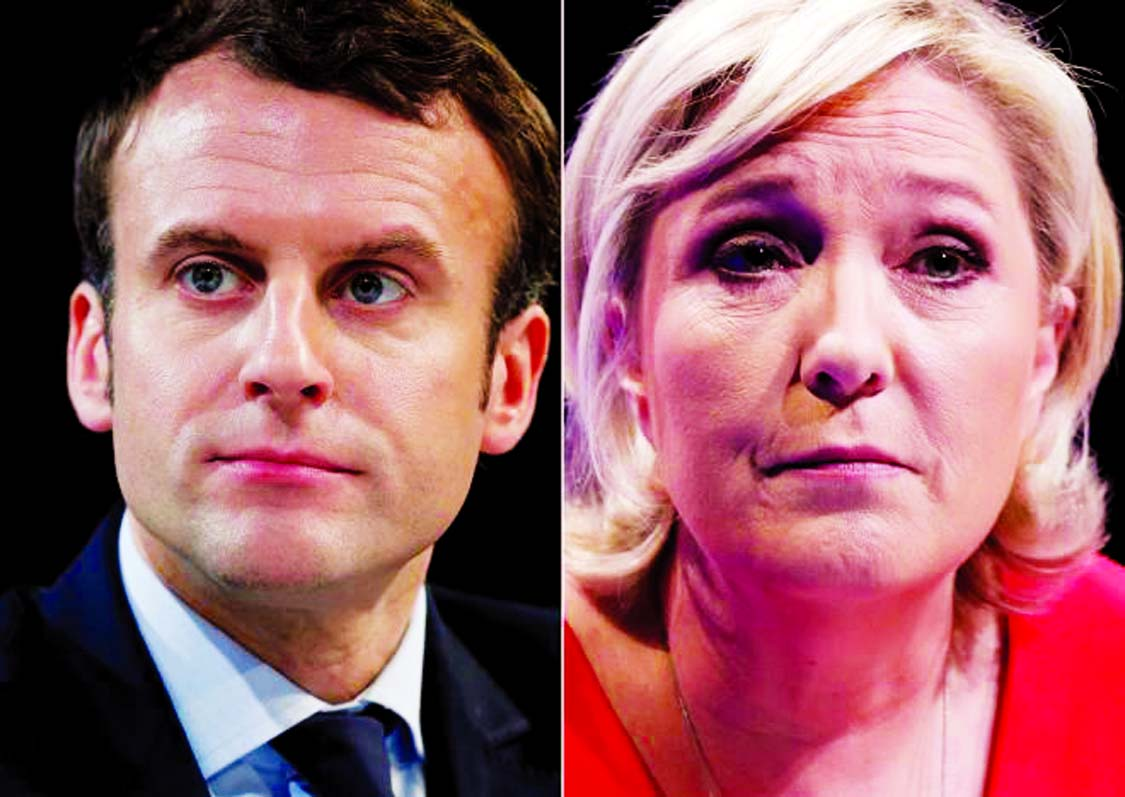 Macron favorite for French presidency in runoff with Le Pen