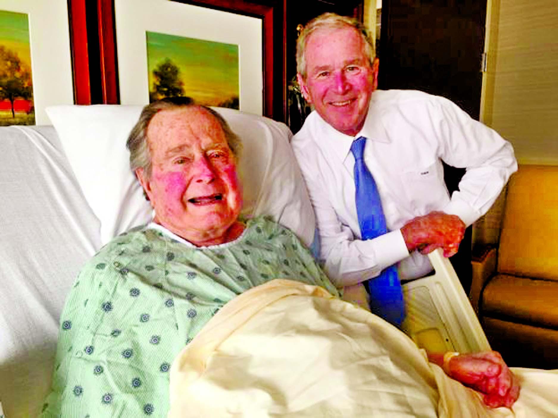 Ex-US President George H.W. Bush staying in hospital few more days