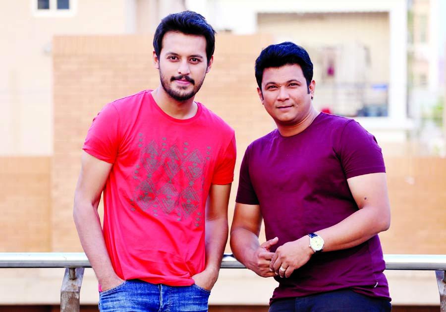 Two friends in Eid play