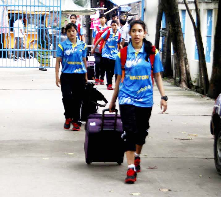 Bangladesh Under-16 National Women`s Football team return to Bangladesh Football Federation House from China on Thursday.