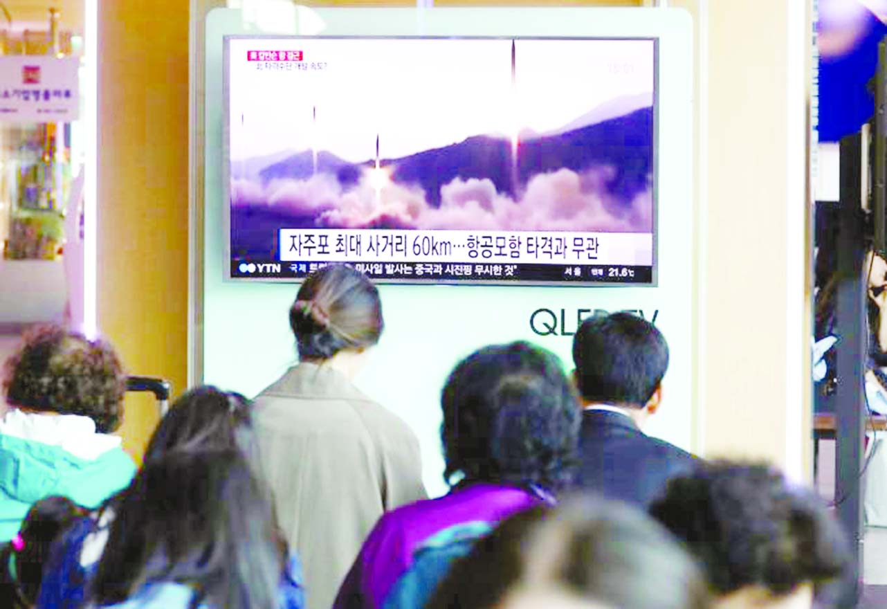 N Korea test-fires missile in defiance of world pressure