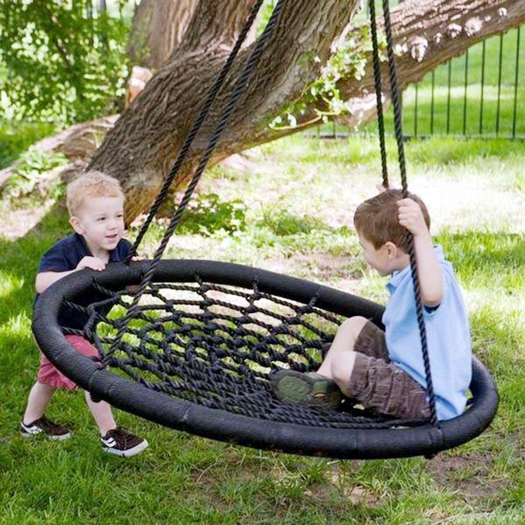 Let kids play on swings to develop life skills